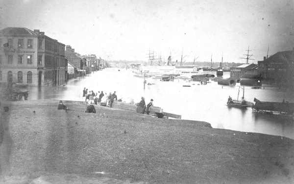 Flooding in Melbourne in 1863