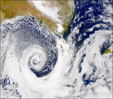 Sattelite image of low pressure system off the coast of Australia