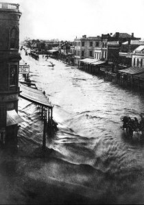 Flooding in Elizabeth St in 1862
