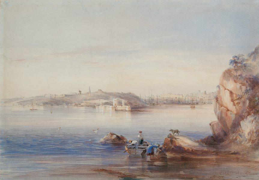 Sydney Cove from the North Shore in 1836. Credit State Library of NSW.