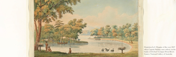 Depiction of the year 1827 at Swan River, Western Australia. Source: National Gallery of Australia.
